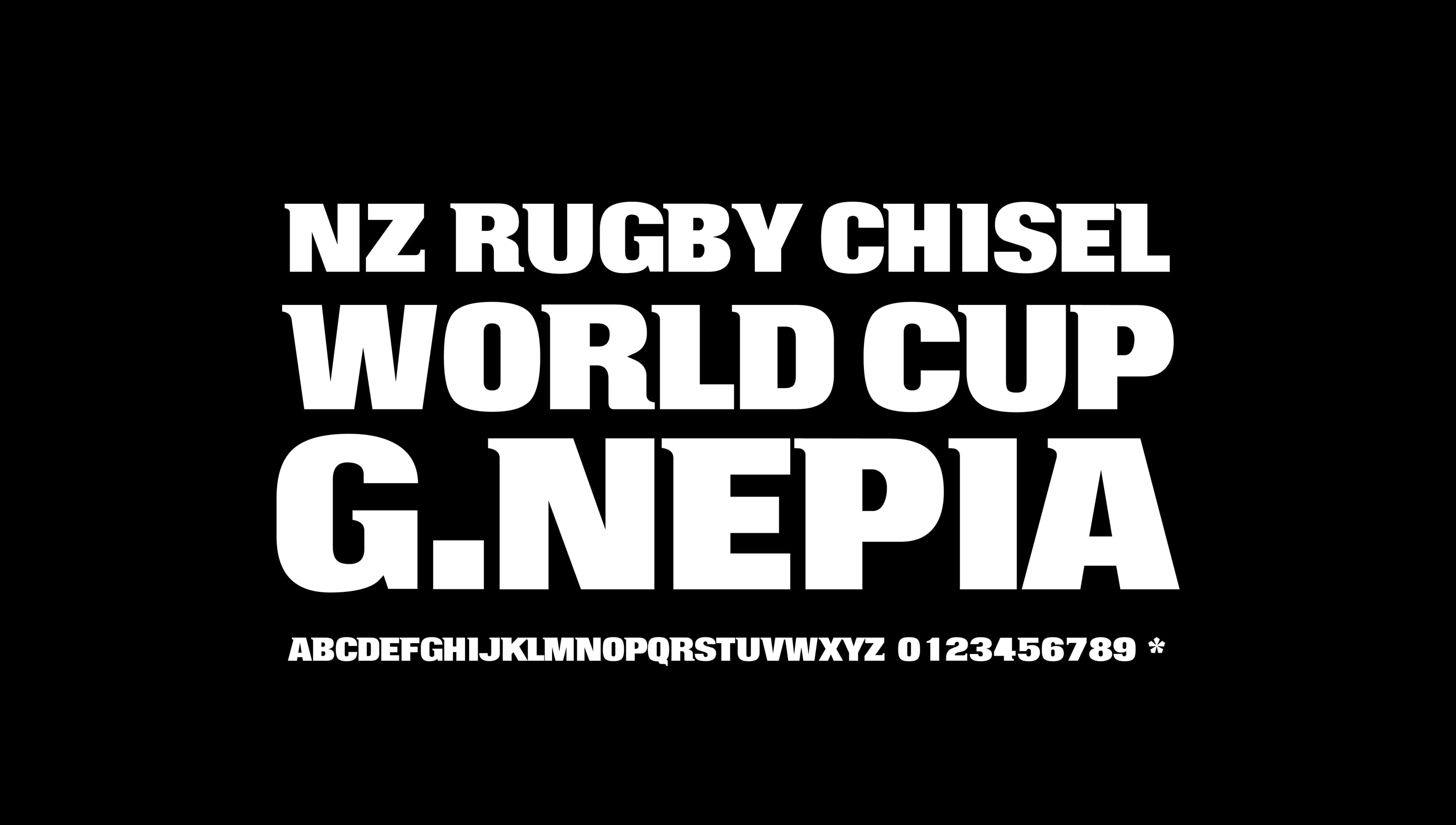 All Blacks Typeface
